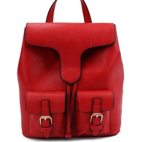 My Bag Lady Online Handbags - Adult Backpack with Buckled Pockets